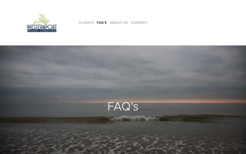 Screenshot of FAQ Page westernportpropertyconsultants.com.au - FAQ's — - Bass Coast - Gippsland - - captured Oct. 20, 2018
