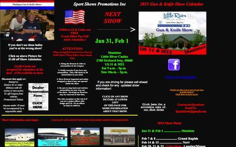 Screenshot of Home Page migunshows.com - Gun shows1 - captured Jan. 28, 2015