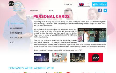 Screenshot of Products Page FAQ Page popwings.me - POPWings - captured Oct. 22, 2014