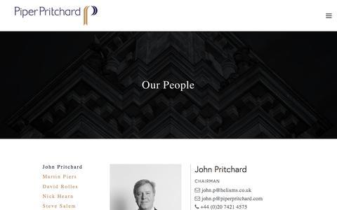 Screenshot of Team Page piperpritchard.com - John Pritchard — Piper Pritchard - captured July 18, 2018