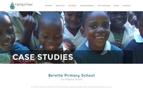 Screenshot of Case Studies Page aspringofhope.org - A Spring of Hope |   Case Studies - captured Nov. 7, 2016