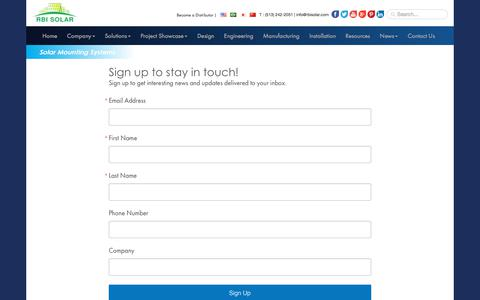Screenshot of Signup Page rbisolar.com - Sign Up for Best Solar Mounting Solutions by RBI Solar - captured April 1, 2018
