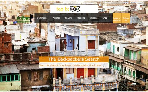 Screenshot of Home Page indianbackpacker.com - The Indian Backpacker | Budget Travel guide to India with free Guidebooks,Cheapest Hostels,Flights,Insurance,Buses and Adventure - captured Sept. 25, 2014