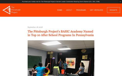 Screenshot of Blog pittsburghproject.org - Blog — The Pittsburgh Project - captured Sept. 25, 2018