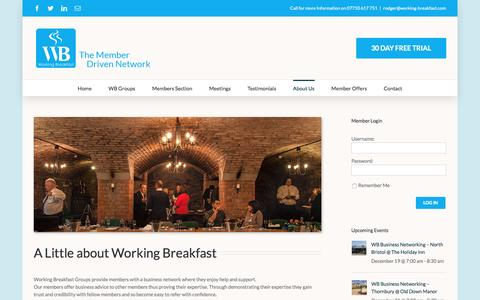Screenshot of About Page working-breakfast.com - About Us - Working Breakfast - captured Dec. 18, 2016