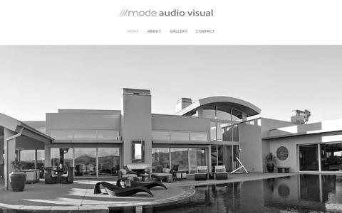 Screenshot of Home Page modeav.com - Mode Audio Visual - Home - captured Feb. 14, 2016