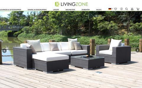 Screenshot of Home Page living-zone.de - LIVING-ZONE - Exklusive Lounge- & Gartenmöbel   LIVING-ZONE - captured Oct. 19, 2018