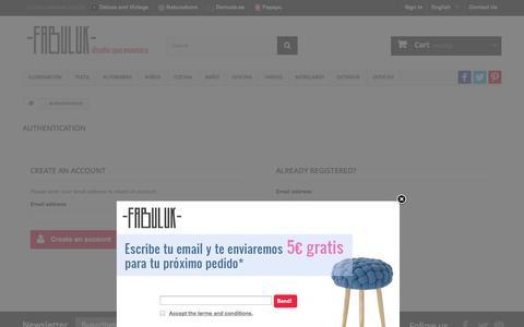 Screenshot of Login Page fabuluk.com - Authentication - Fabuluk.com - captured Oct. 5, 2014