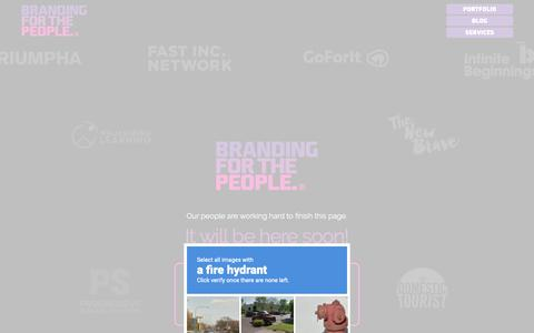 Screenshot of Jobs Page brandingforthepeople.com - Careers - Branding for the People - captured Nov. 19, 2018