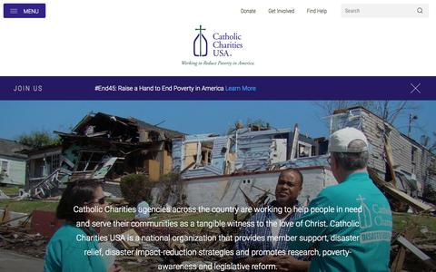 Screenshot of Home Page catholiccharitiesusa.org - Catholic Charities USA - captured Oct. 2, 2015