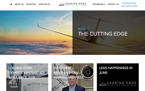 Screenshot of Blog leas.com - Blog - Leading Edge Aviation Solutions - captured Nov. 10, 2018