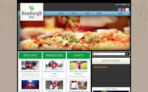 Screenshot of Home Page newburghmall.com - Newburgh Mall :: 1401 Route 300, Newburgh, NY. 12550 :: 845-564-1400 - captured April 2, 2017