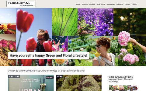 Screenshot of Blog floralist.nl - Bloggen over Bloemen en Bloemschikken - captured Oct. 14, 2017