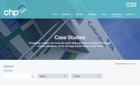 Screenshot of Case Studies Page communityhealthpartnerships.co.uk - Case Studies - captured Dec. 10, 2015