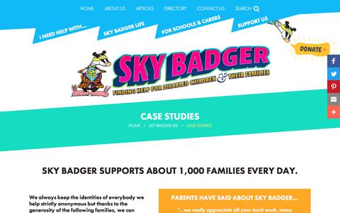 Screenshot of Case Studies Page skybadger.co.uk - Sky Badger helps about 1,000 every day. Read their stories about how we've helped and how their lives have changed for the better. - captured June 16, 2017