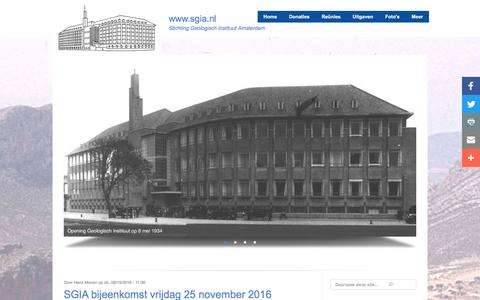Screenshot of Home Page sgia.nl - Reünie 2016 | www.sgia.nl - captured July 29, 2017