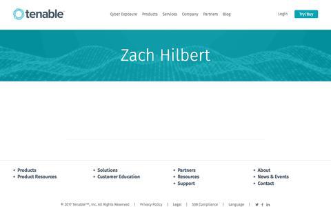 Zach Hilbert | Tenable™
