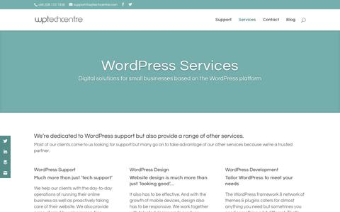 Screenshot of Services Page wptechcentre.com - WordPress Services - WPTechCentre - captured Sept. 27, 2018