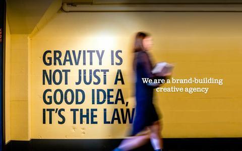 Screenshot of Home Page gravitycreative.com - Gravity Creative – Ignite your brand - captured Nov. 14, 2016