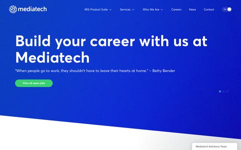 Screenshot of Jobs Page mediatechsolutions.es - Find a new career with Mediatech Solutions - captured Aug. 10, 2016