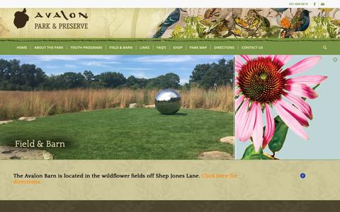 Screenshot of Signup Page avalonparkandpreserve.org - Field and Barn | Avalon Park & Preserve | Stony Brook, NY - captured Sept. 27, 2018