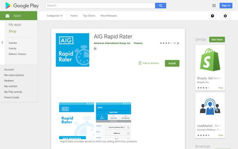 AIG Rapid Rater - Apps on Google Play