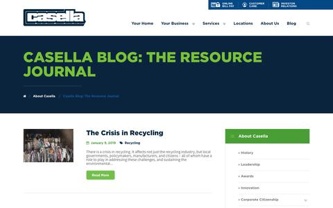 Screenshot of Blog casella.com - Casella Blog: The Resource Journal | Casella - captured Jan. 14, 2019
