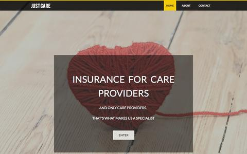 Screenshot of Home Page caringinsurance.co.uk - www.caringinsurance.co.uk - captured Sept. 29, 2014