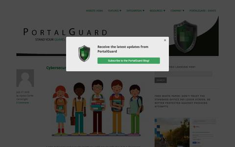 Screenshot of Blog portalguard.com - Ultimate Security News and Insight - captured July 19, 2018