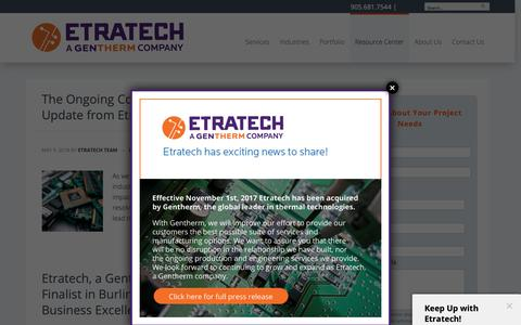 Screenshot of Blog etratech.com - Blog | Etratech - captured Dec. 15, 2018