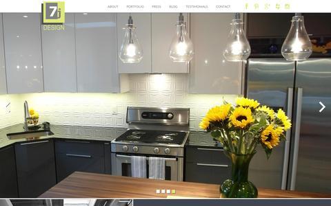 Screenshot of Home Page 7jdesign.com - 7j Design Interior Designers Ottawa : 7j Designs - captured Feb. 27, 2016
