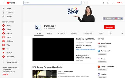 PaesslerAG - YouTube - YouTube