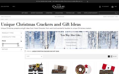 Unique Christmas Crackers and Gift Ideas from Hotel Chocolat
