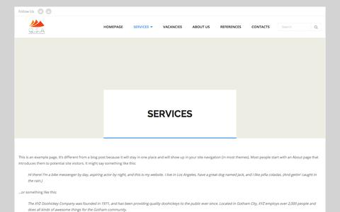 Screenshot of Services Page qsa.cz - Services – Quality Services Assurance – Q.S.A. - captured July 5, 2017