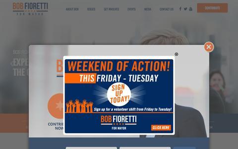 Screenshot of Home Page bobfioretti.com - Bob Fioretti for Mayor of Chicago - captured Sept. 25, 2015
