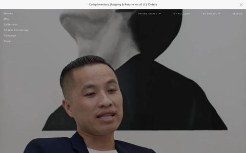 Screenshot of Home Page 31philliplim.com - 3.1 Phillip Lim Official Site | Designer Clothing & Accessories - captured Feb. 11, 2016