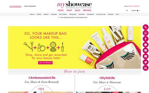 Screenshot of Signup Page myshowcase.com - So, your makeup bag looks like this... - captured June 23, 2017