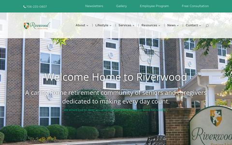 Screenshot of Home Page riverwoodretirement.com - Riverwood Senior Living | A Community for Seniors - captured Oct. 20, 2018