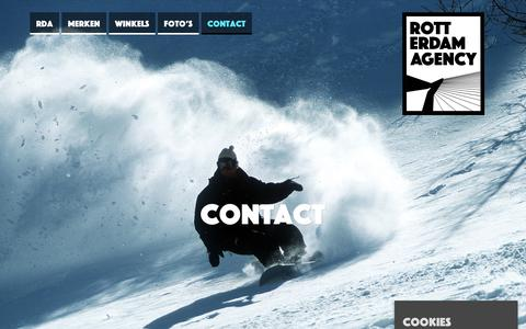 Screenshot of Contact Page rotterdamagency.nl - Contact - Rotterdam AgencyRotterdam Agency - captured Sept. 21, 2018