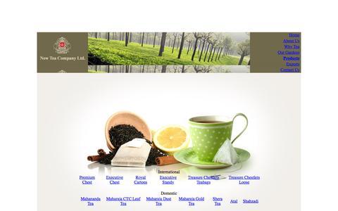Screenshot of Products Page new-tea.com - New Tea Company - captured Feb. 16, 2016