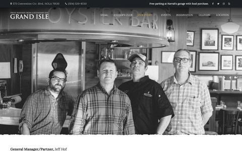 Screenshot of Team Page grandislerestaurant.com - Our Team - captured July 22, 2018