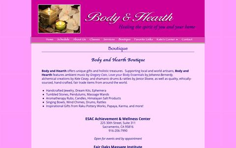 Screenshot of Products Page bodyandhearth.com - Boutique - Kate Casey - Body & Hearth - captured Sept. 28, 2018