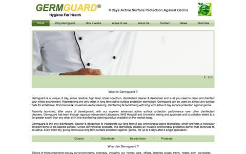 Screenshot of Home Page germguard.co.uk - Germguard Home - captured July 13, 2016