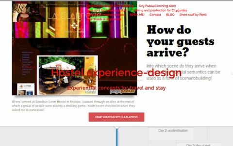 Screenshot of Home Page la-clappeye.nl - La Clappeye Concepting – Experiences created through you - captured Oct. 13, 2016