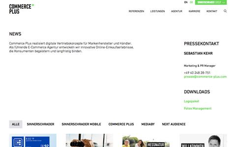 Screenshot of Press Page commerce-plus.com - News Commerce Plus - captured Sept. 19, 2014