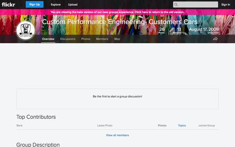 Screenshot of Flickr Page flickr.com - Flickr: The Custom Performance Engineering- Customers Cars Pool - captured Oct. 23, 2014