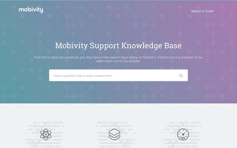 Mobivity – Mobivity Support Knowledge Base