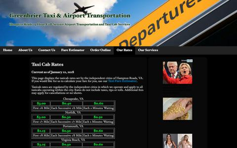 Taxi Cab Rates | Greenbrier Taxi & Airport Transportation
