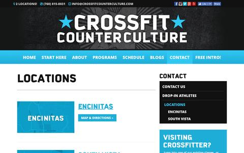 Screenshot of Locations Page Maps & Directions Page crossfitcounterculture.com - Locations - CrossFit Counter Culture - captured May 23, 2017