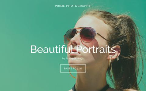 Screenshot of Home Page primephotography.net - Prime Photography - captured Nov. 5, 2018